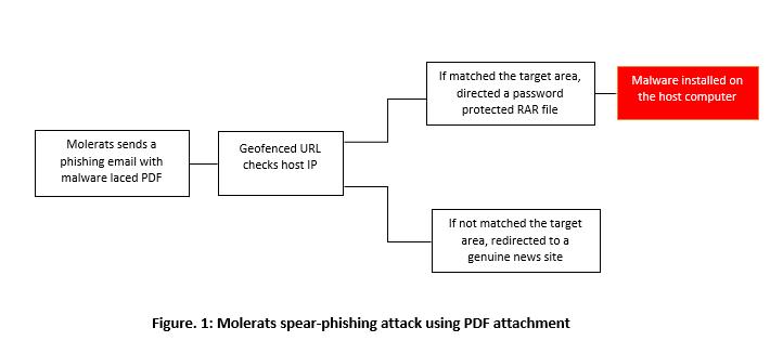 Model showing how Molerats attacks its victims